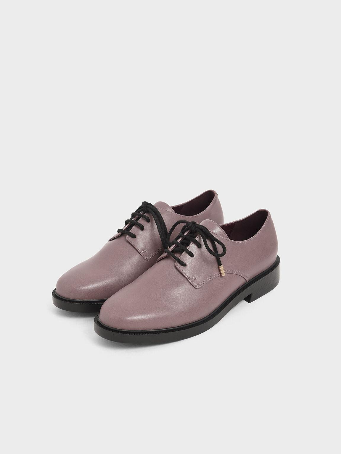 Derby Shoes, Mauve, hi-res