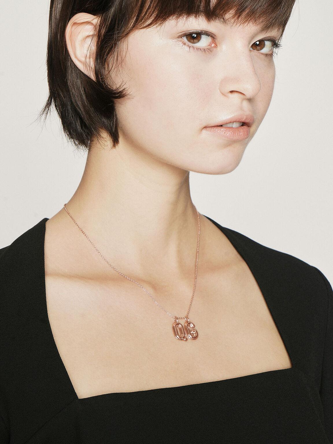 Princess Chain Necklace, Rose Gold, hi-res