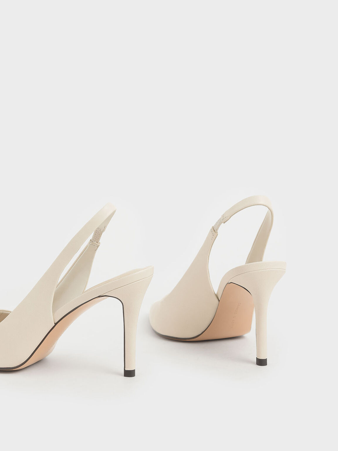 Slingback Pointed Pumps, Chalk, hi-res