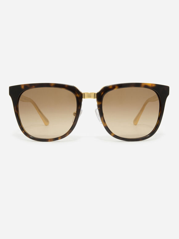 Acetate Frame Wayfarer Sunglasses, T. Shell, hi-res