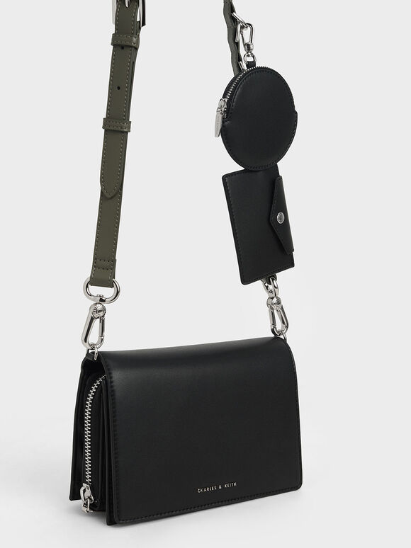Multi-Pouch Crossbody Bag, Black, hi-res