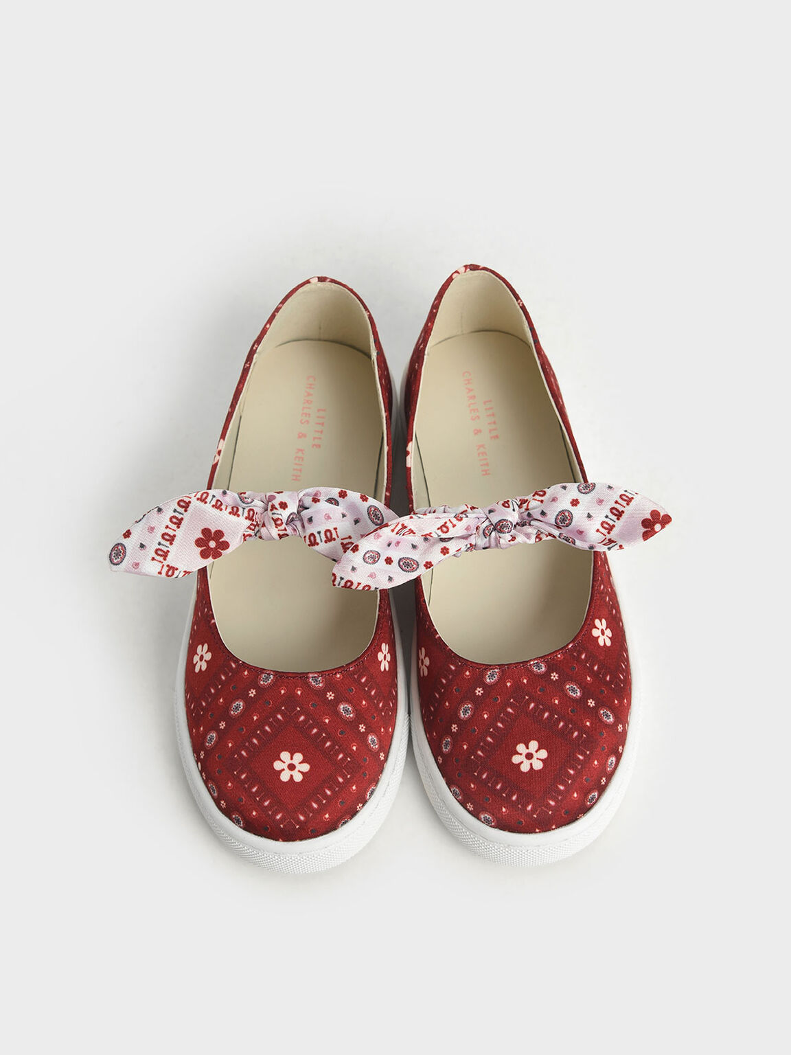 The Purpose Collection - Girls' Bandana Print Slip-On Sneakers, Red, hi-res