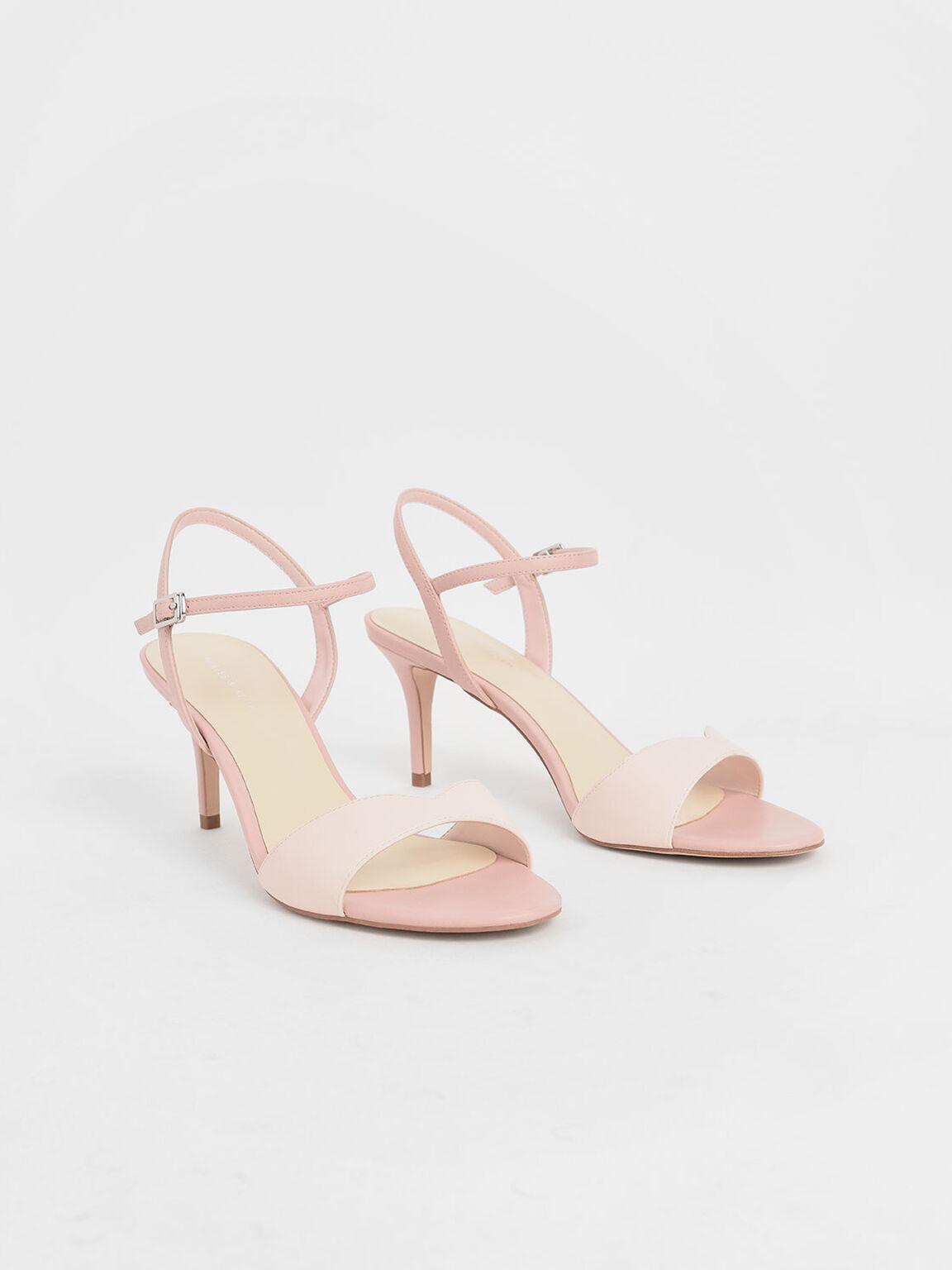 Sweetheart Topline Ankle Strap Heels, Pink, hi-res