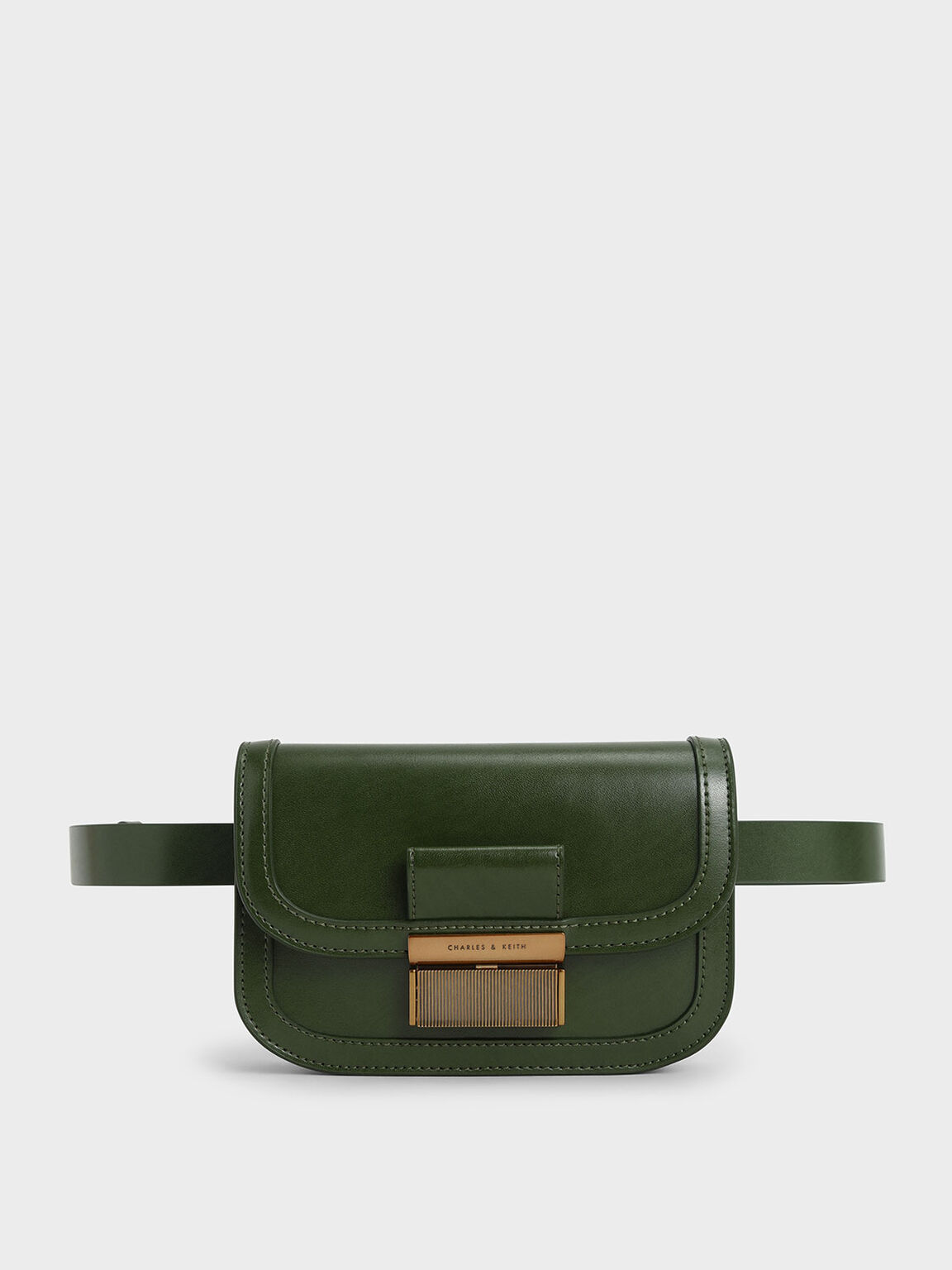 Metallic Push-Lock Front Flap Bag, Sage Green, hi-res