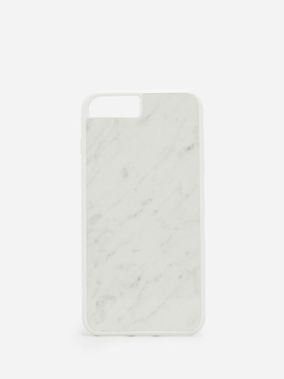 iPhone 7 Plus/8 Plus Marble Case, White, hi-res
