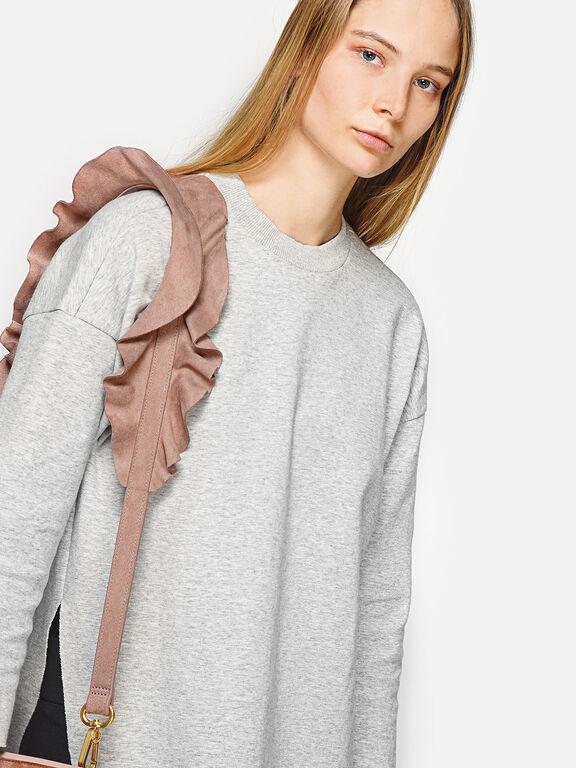 Ruffled Bag Strap, Nude