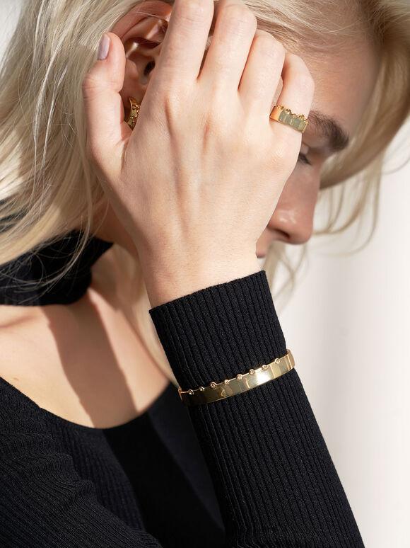 施華洛世奇®水晶鑲嵌手環, 金色, hi-res