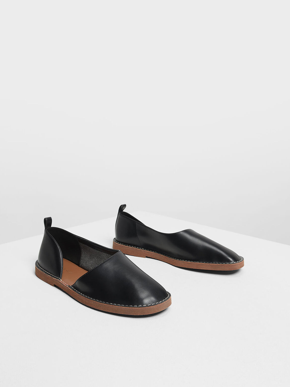 D'Orsay Loafers, Black, hi-res