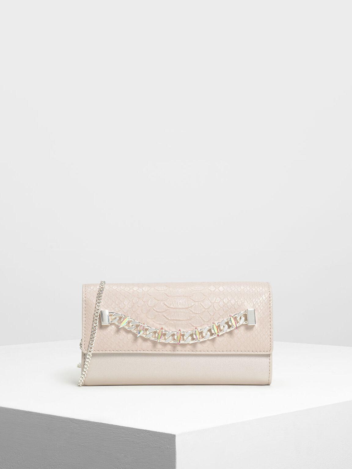 Chain Detail Wallet, Pearl, hi-res