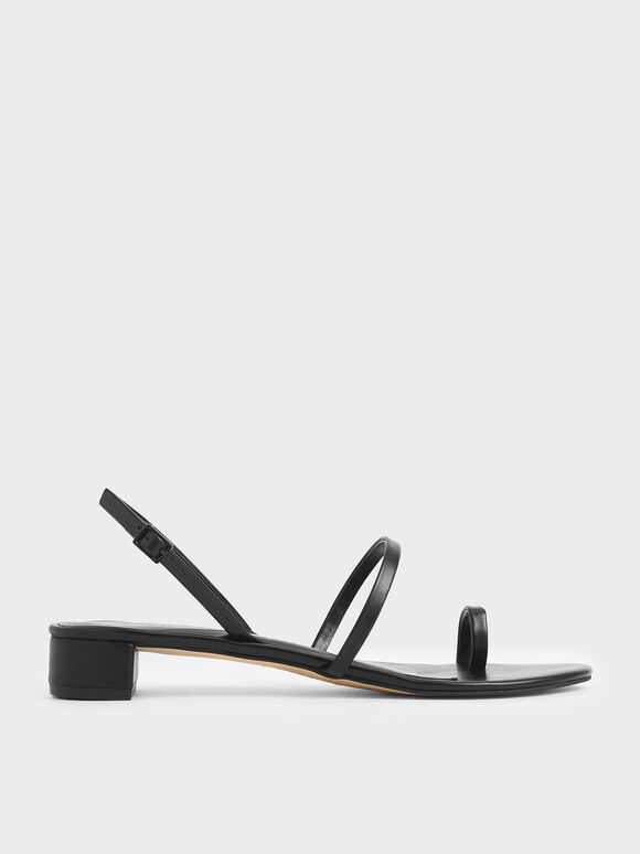 Toe Loop Sandals, Black, hi-res