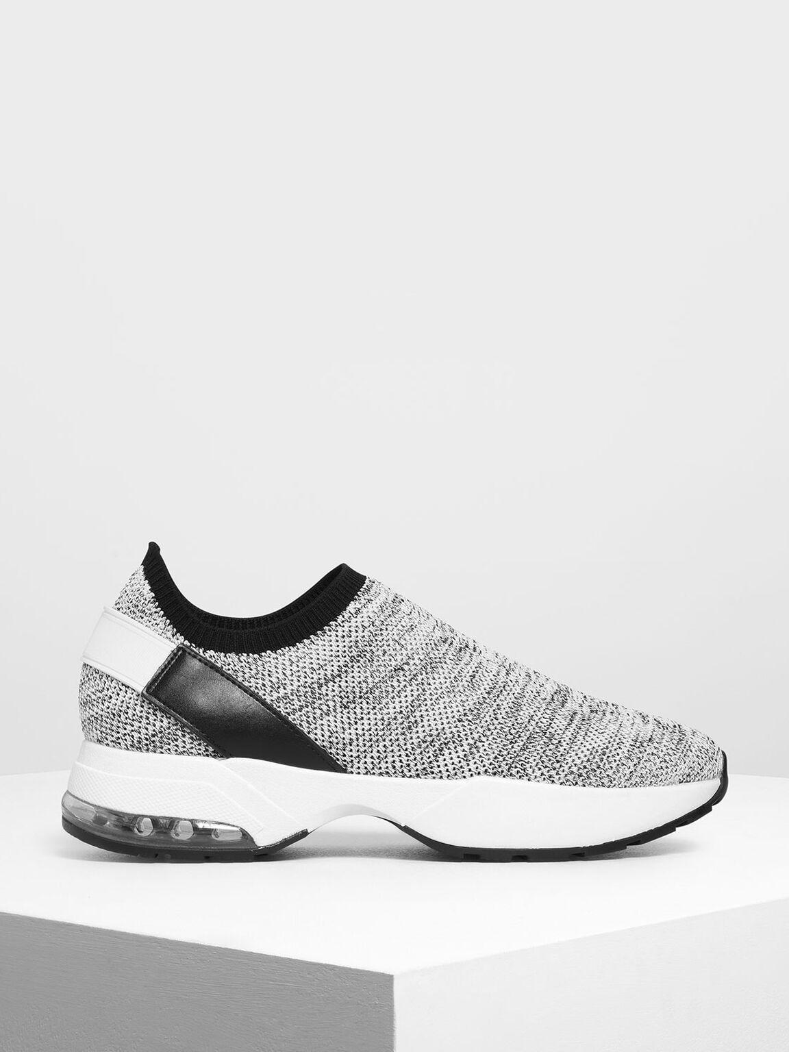 Knitted Sock Slip-On Sneakers, Multi, hi-res
