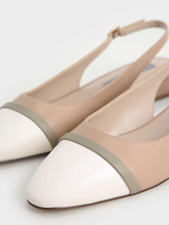 Slingback Ballerinas, Nude, hi-res