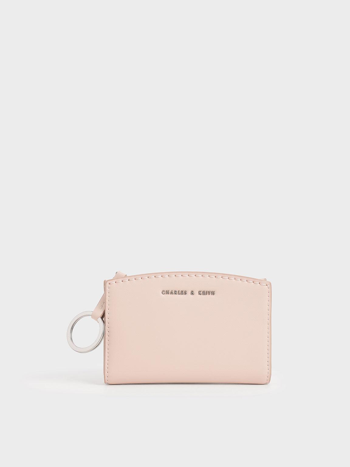 Ring Detail Card Holder, Light Pink, hi-res