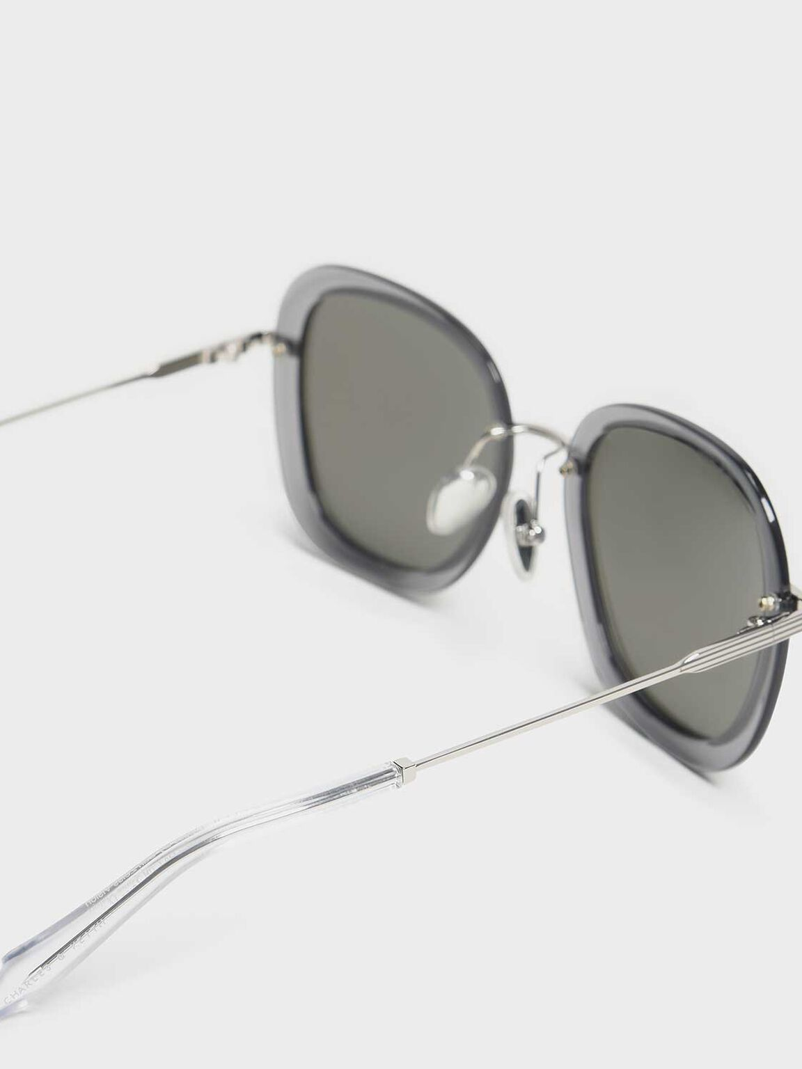 Double Lens Sunglasses, Silver, hi-res