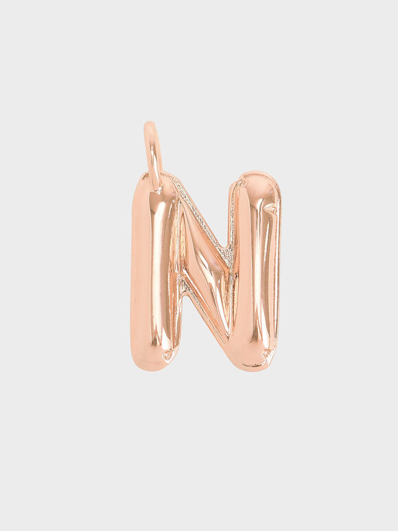 Alphabet 'N' Charm, Rose Gold, hi-res