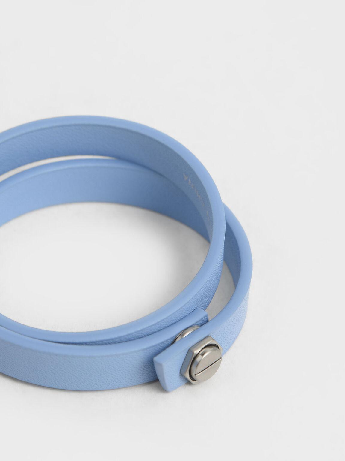 Wrap Around Bracelet, Denim Blue, hi-res