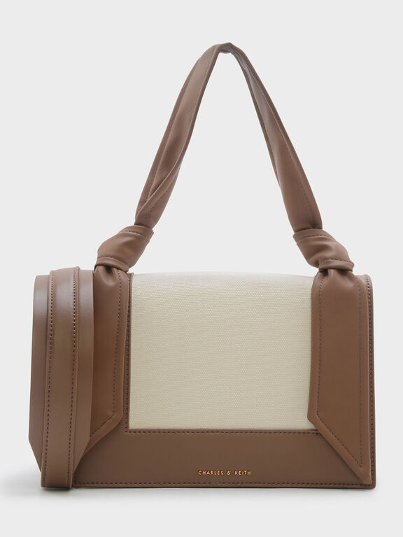 Knotted Strap Handbag, Taupe