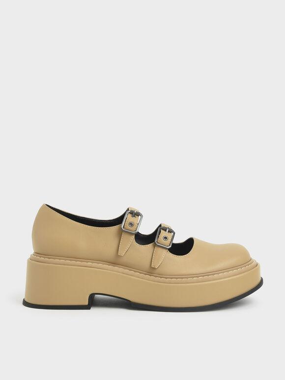 Frankie 厚底瑪莉珍鞋, 柔沙色, hi-res