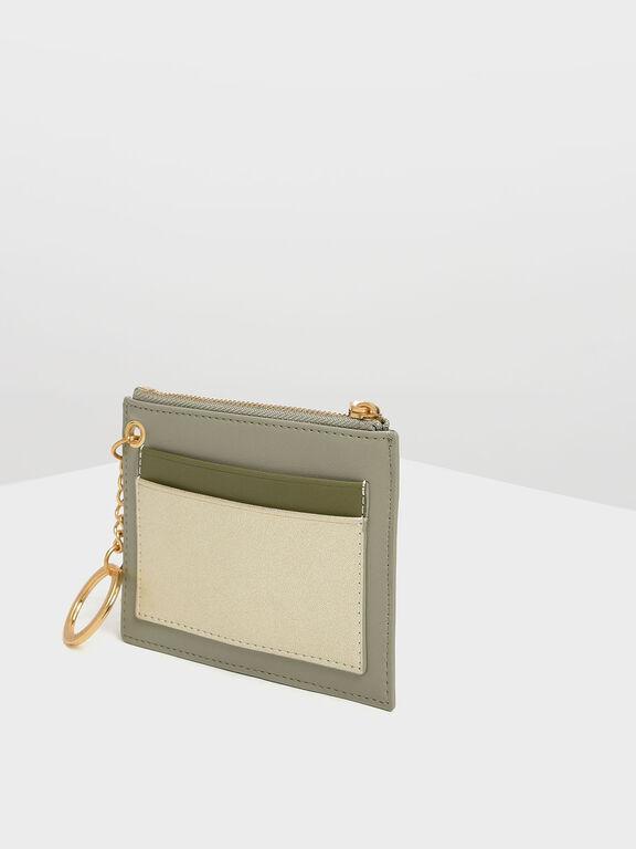 Chain Link Card Holder, Sage Green