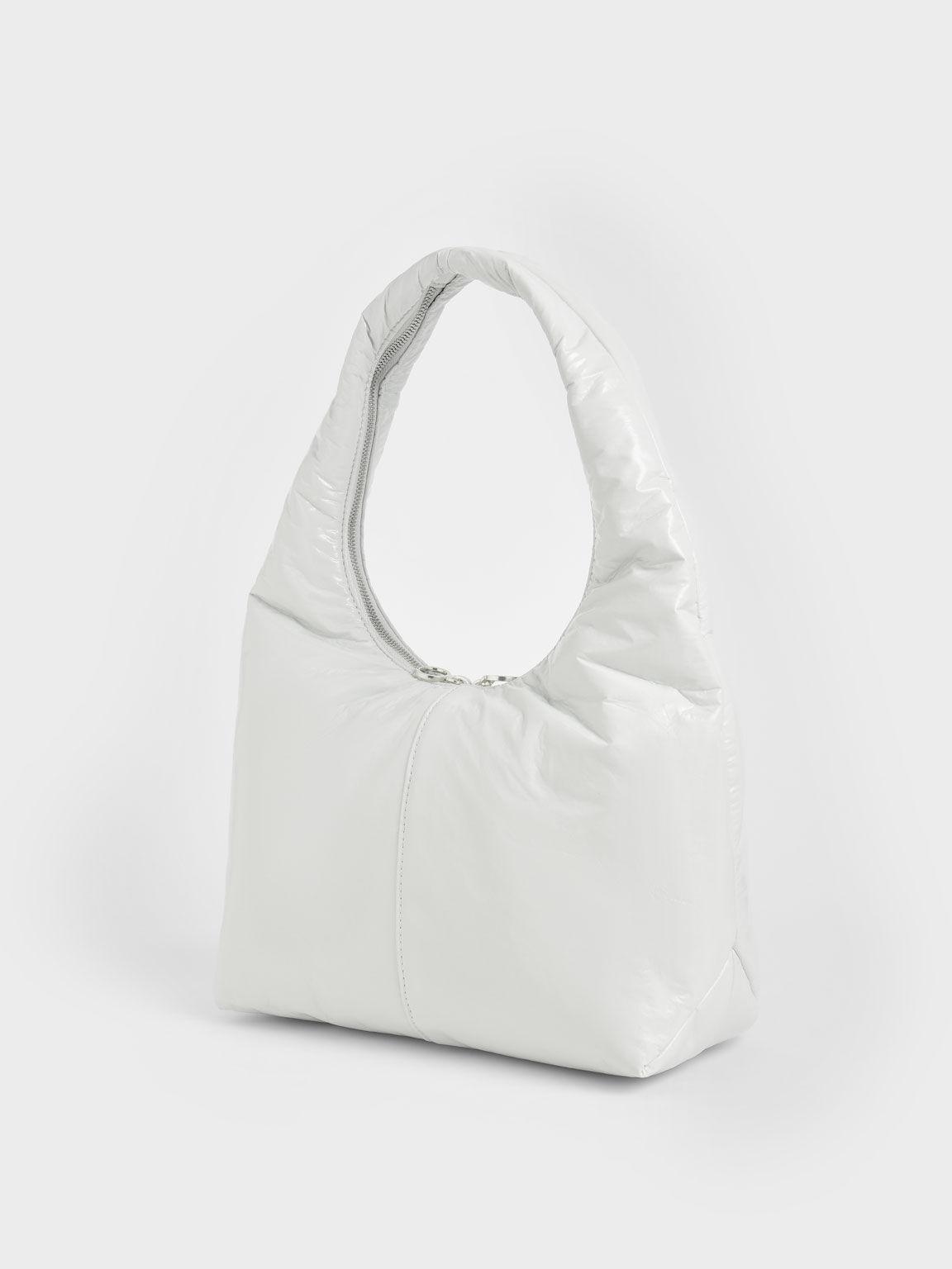 手提枕頭包, 白色, hi-res