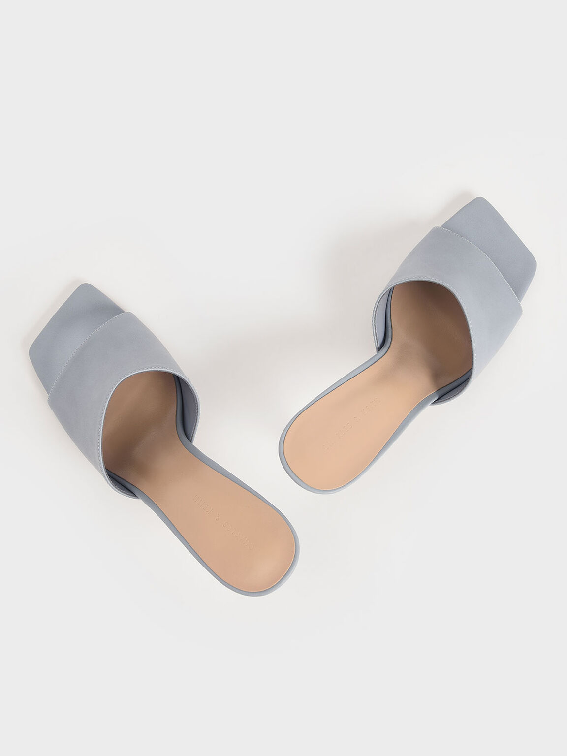 Square Toe Mules, Light Blue, hi-res
