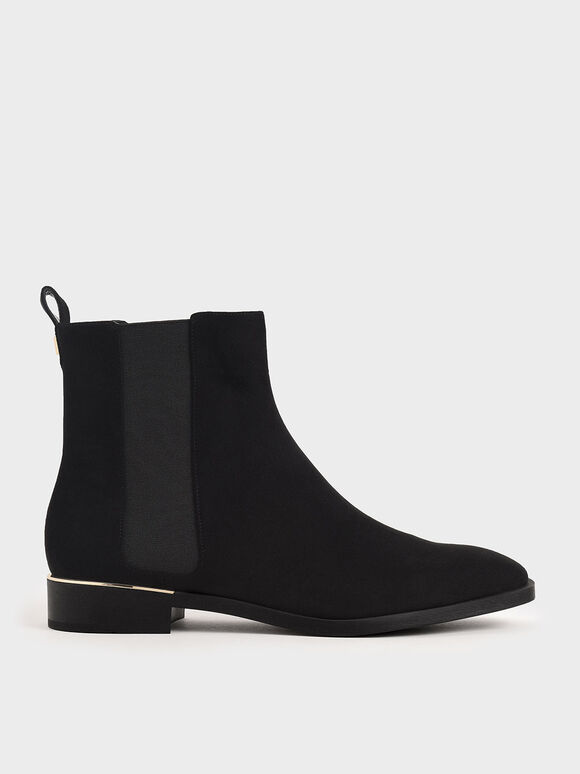 Textured Chelsea Boots, Black Textured, hi-res