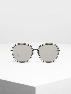 Double Wire Frame Shades, Black