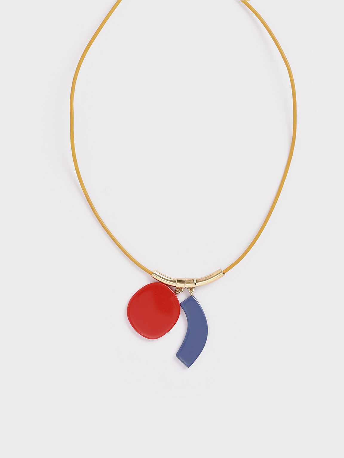 Acetate Multi Charm Necklace, Multi, hi-res