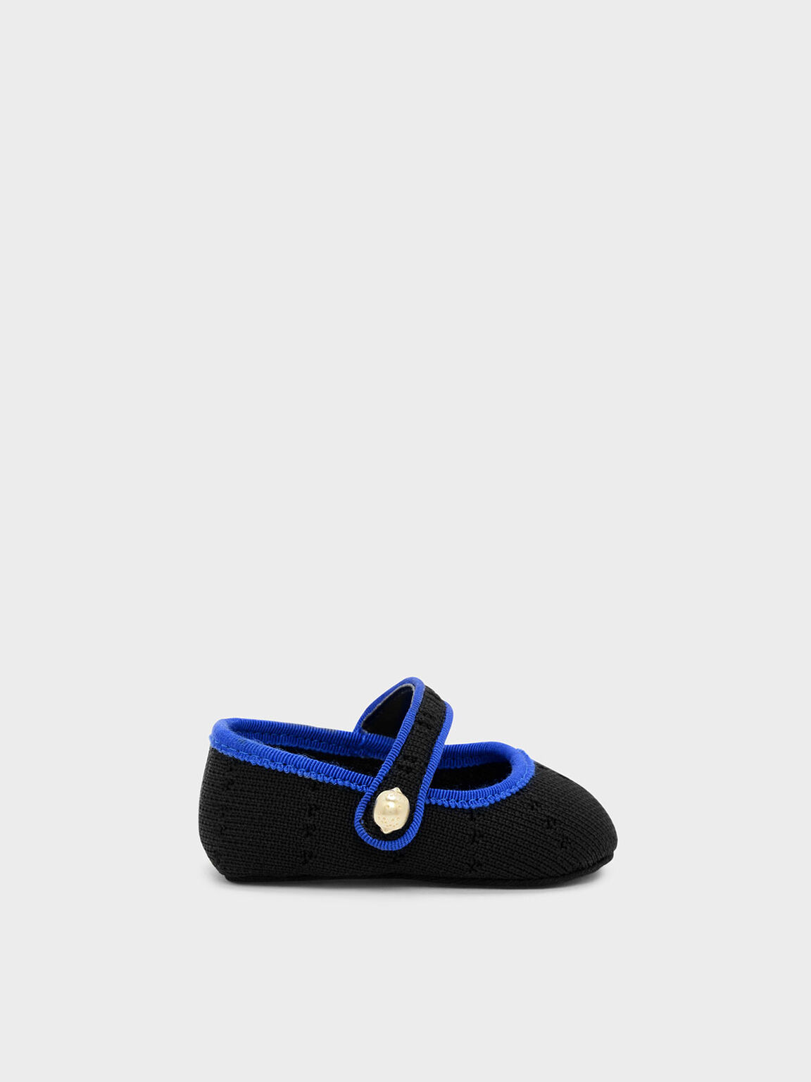 Kids Knitted Mary Janes, Black, hi-res