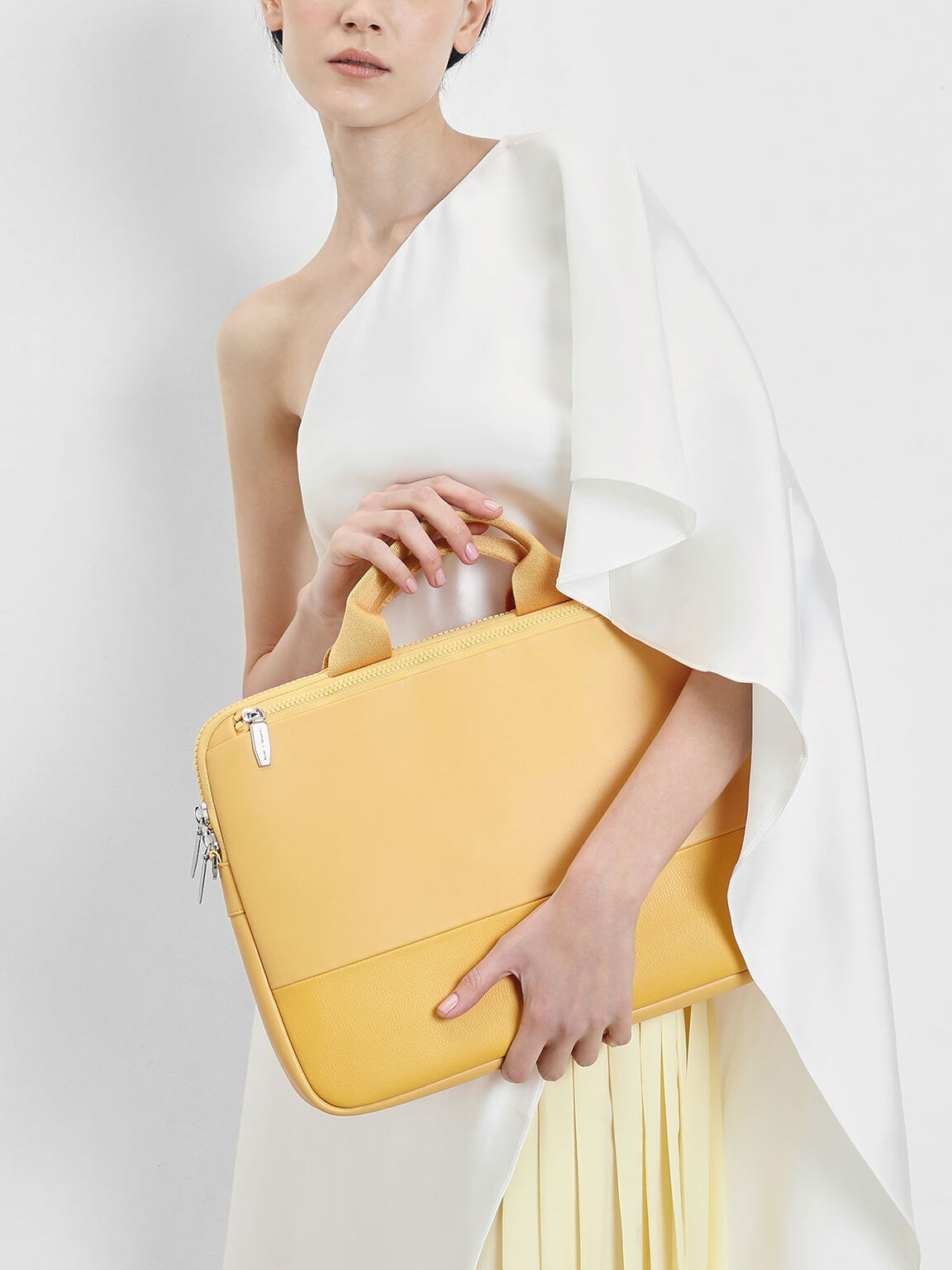 Two Tone Laptop Bag, Yellow, hi-res