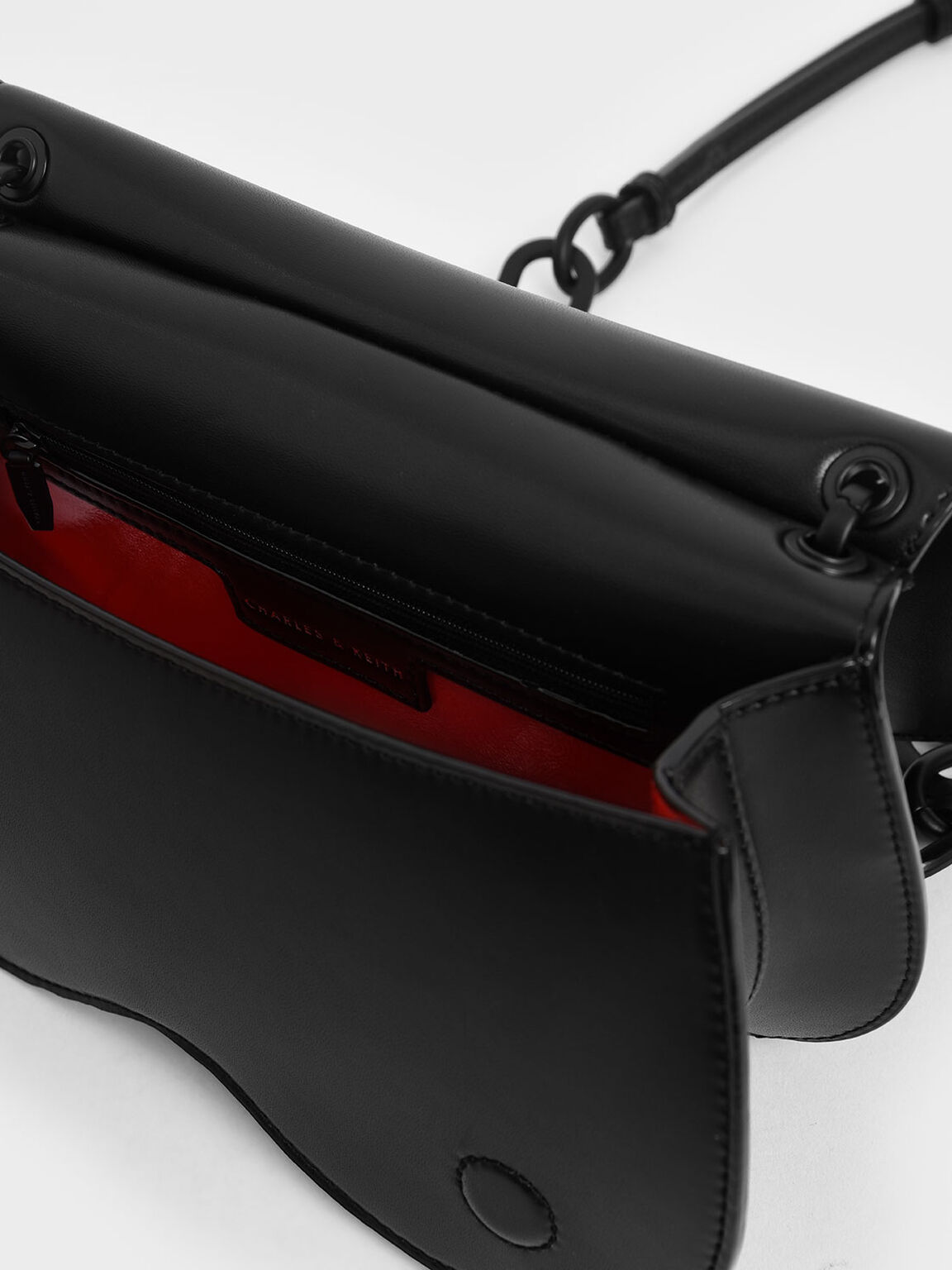 Eyelet Crossbody Bag, Black, hi-res