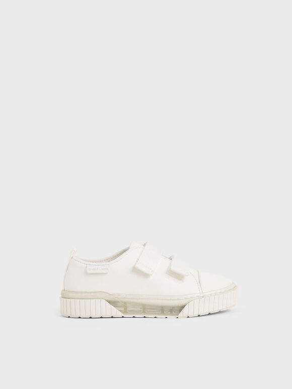 The Purpose Collection - Girls' Clear Sole Low-Top Sneakers, White, hi-res