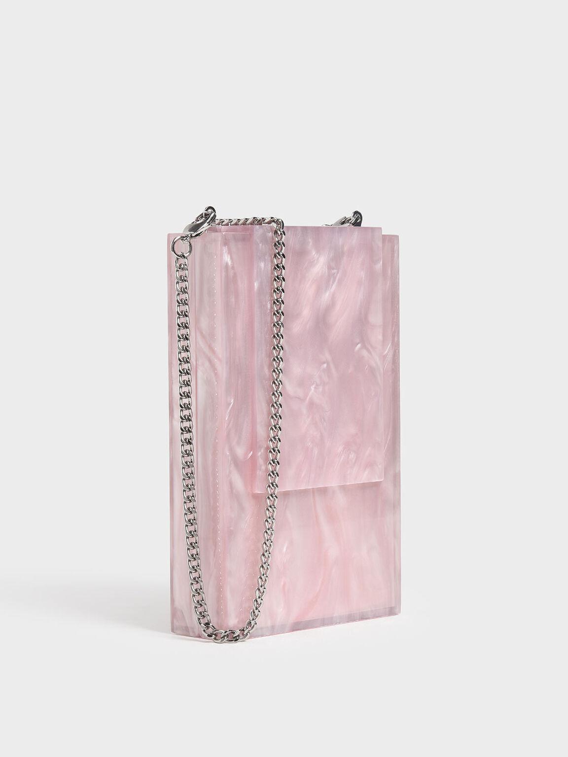 Resin Clutch, Pink, hi-res
