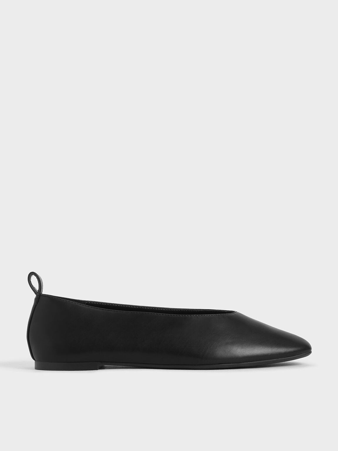 Ballerina Flats, Black, hi-res