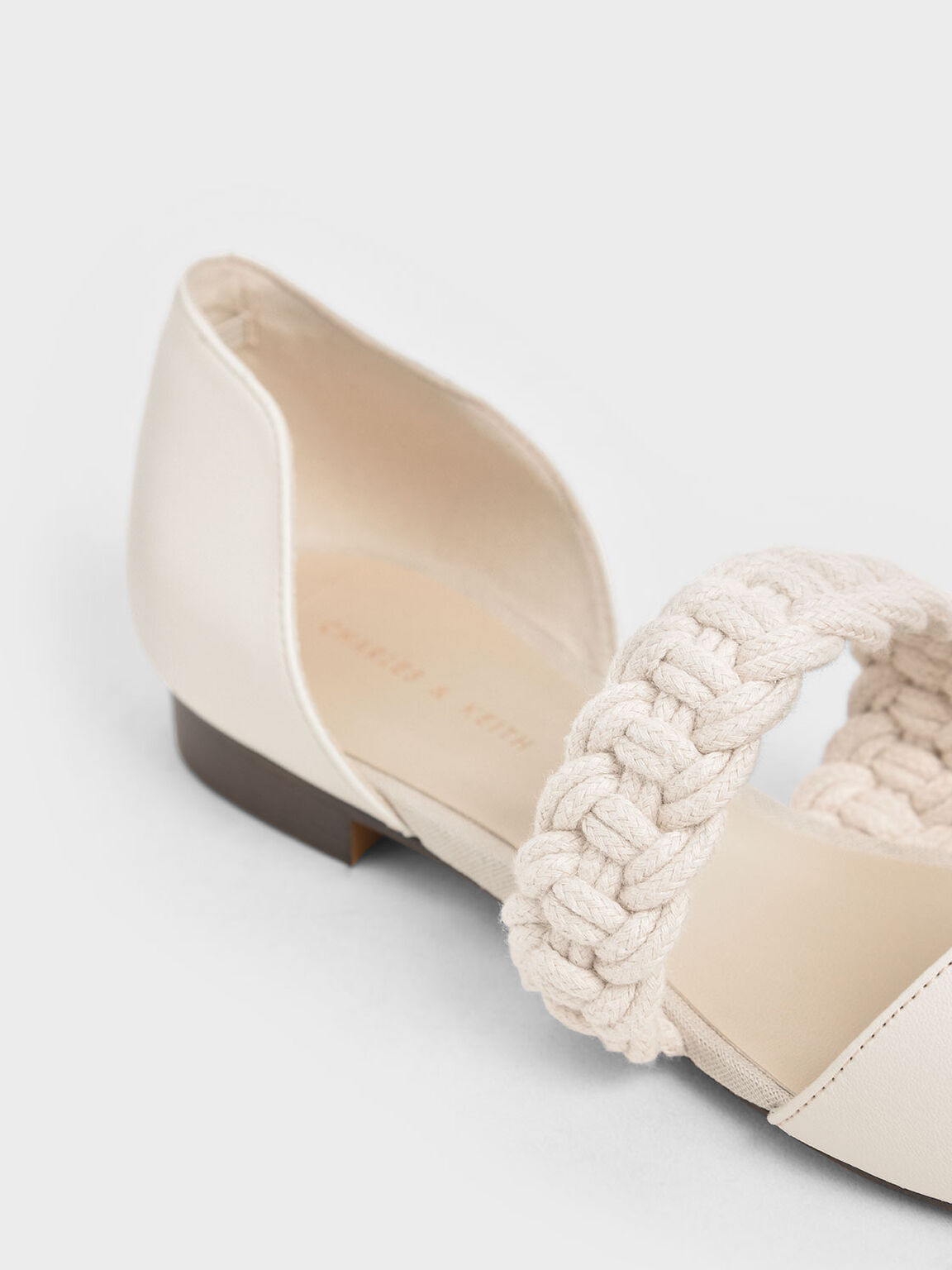 Braided-Strap Mary Jane Flats, Chalk, hi-res