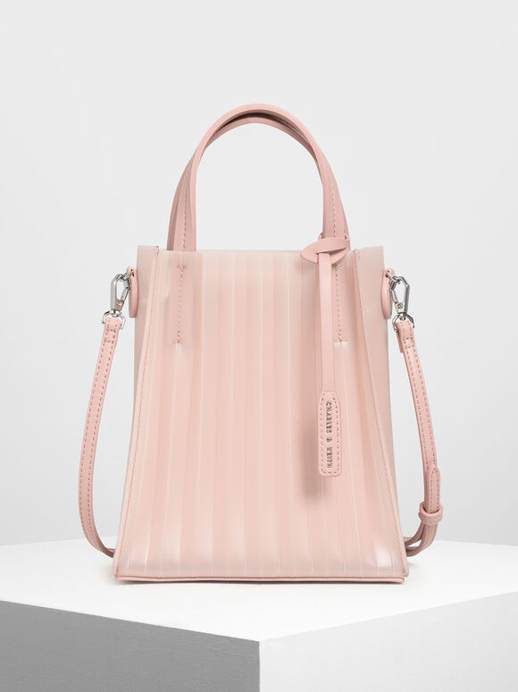 Translucent Tote Bag, Pink, hi-res