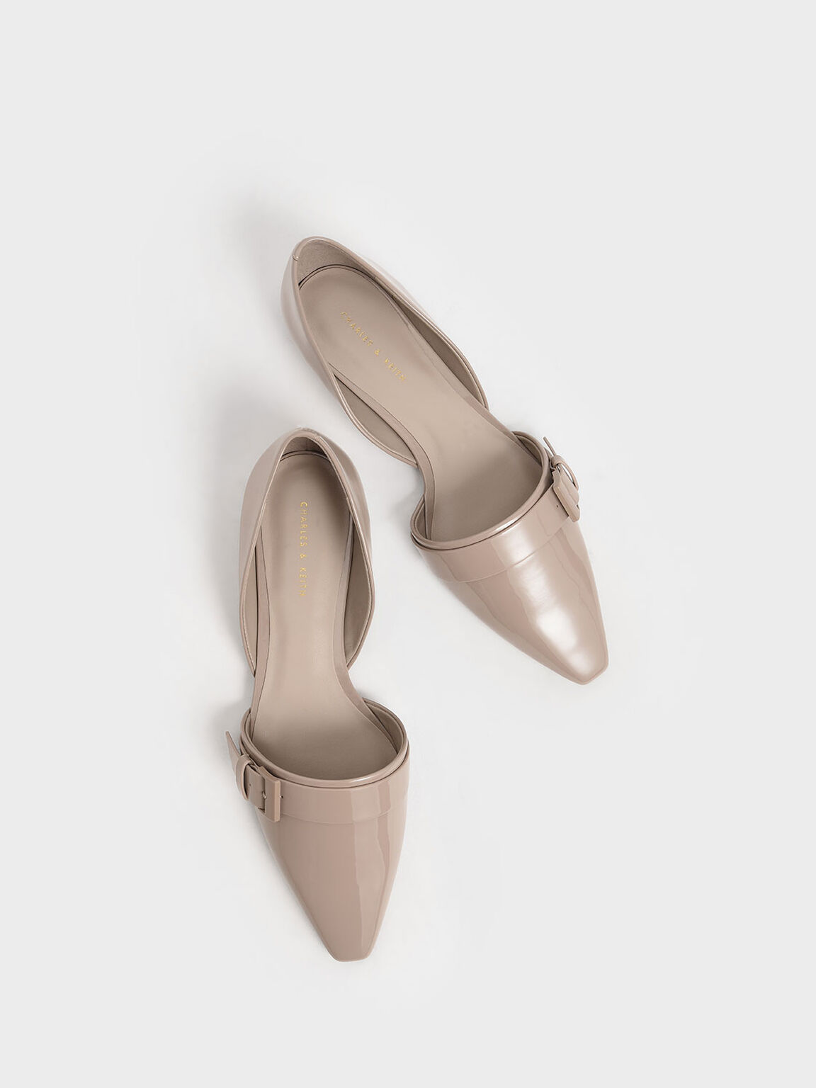 扣環平底鞋, 灰褐色, hi-res