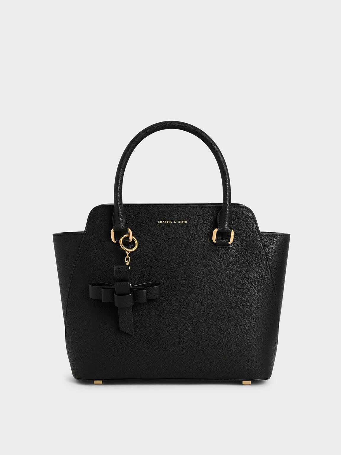 Large Classic Handbag, Black, hi-res
