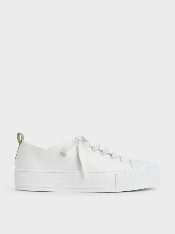 Molly Chiang Collection: Classic Sneakers, White, hi-res