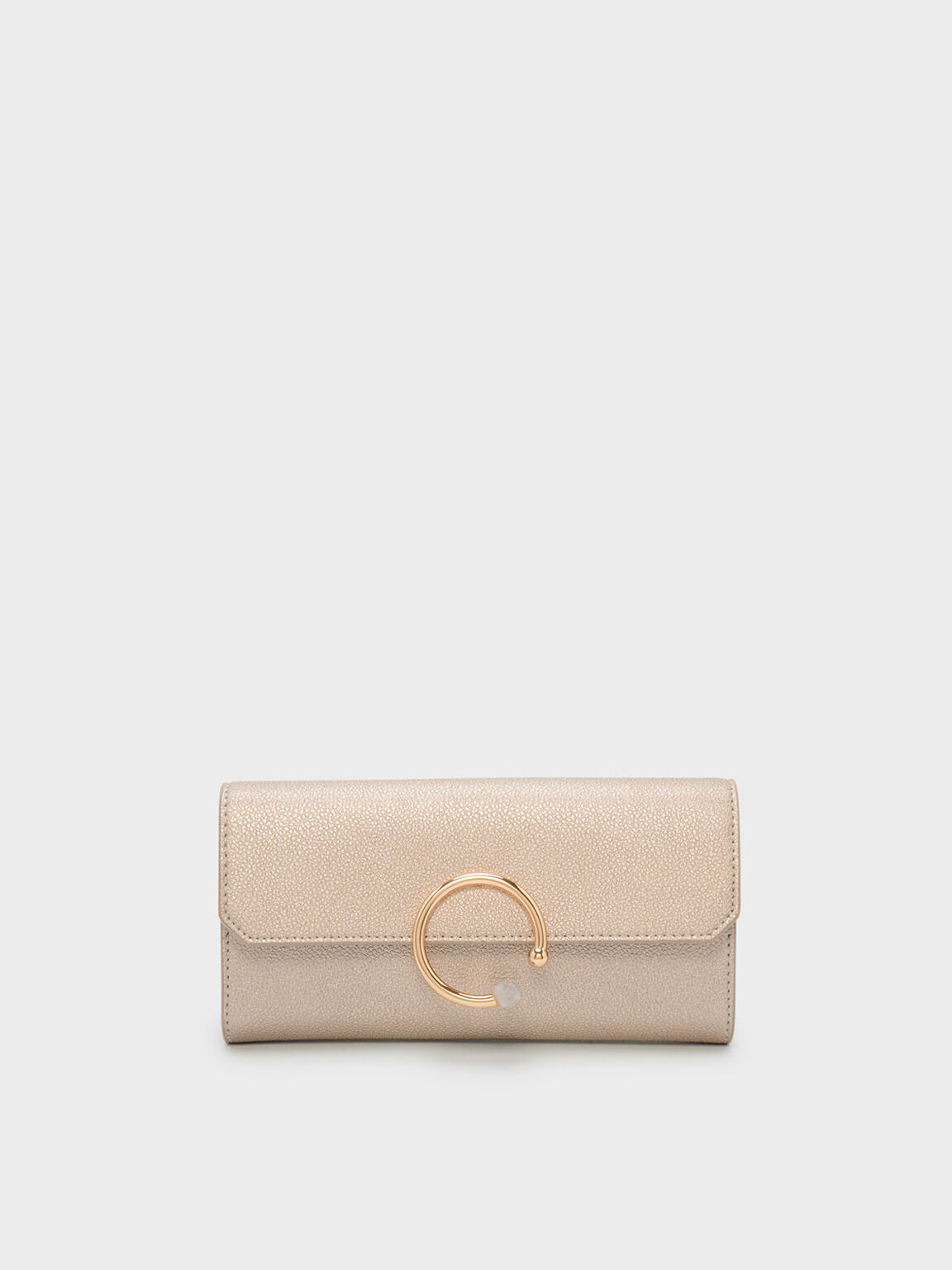 Circular Detail Wallet, Rose Gold, hi-res