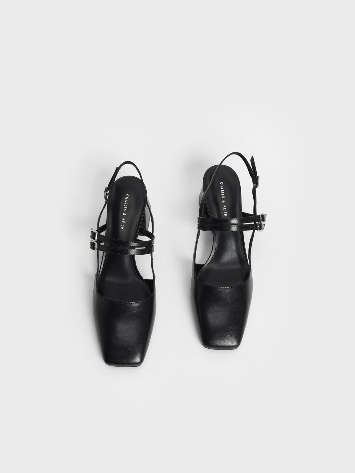 Double Strap Slingback Mary Janes, Black, hi-res