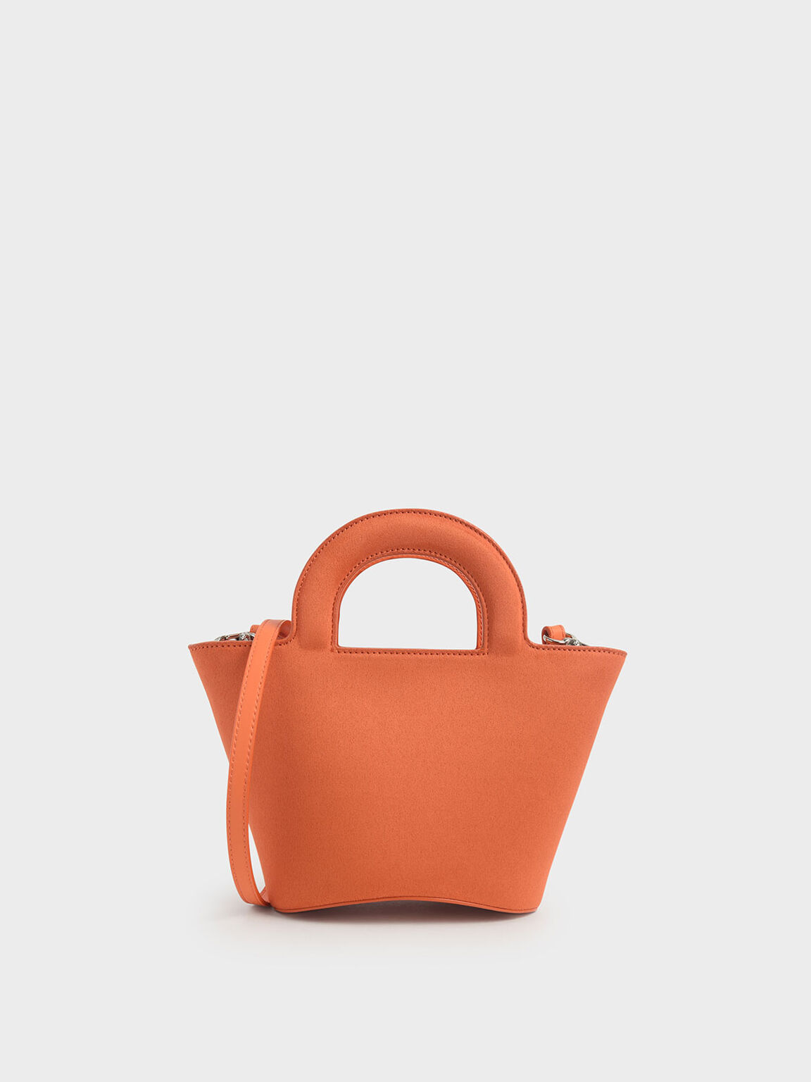 Textured Trapeze Bag, Orange, hi-res