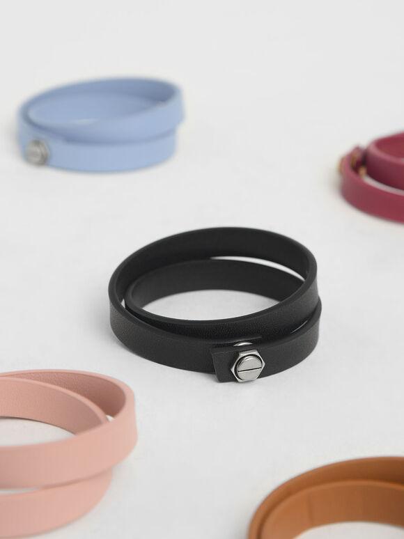 Wrap Around Bracelet, Black, hi-res