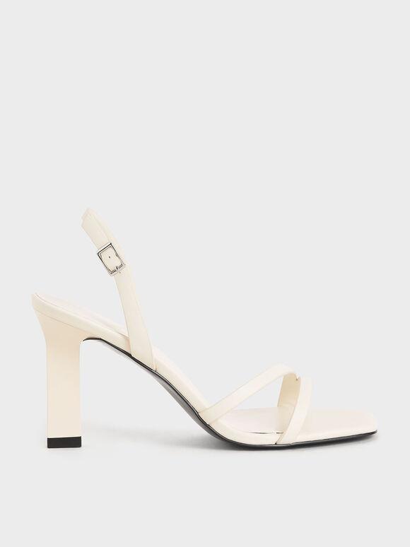 雙帶高跟涼鞋, 石灰白, hi-res