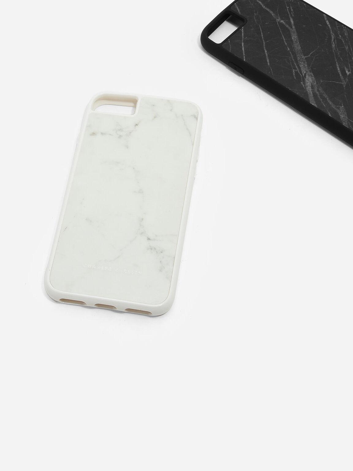 iPhone 7/7s Marble Case, Black, hi-res