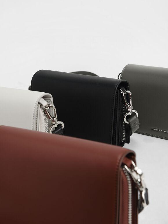 Multi-Pouch Crossbody Bag, Brick, hi-res