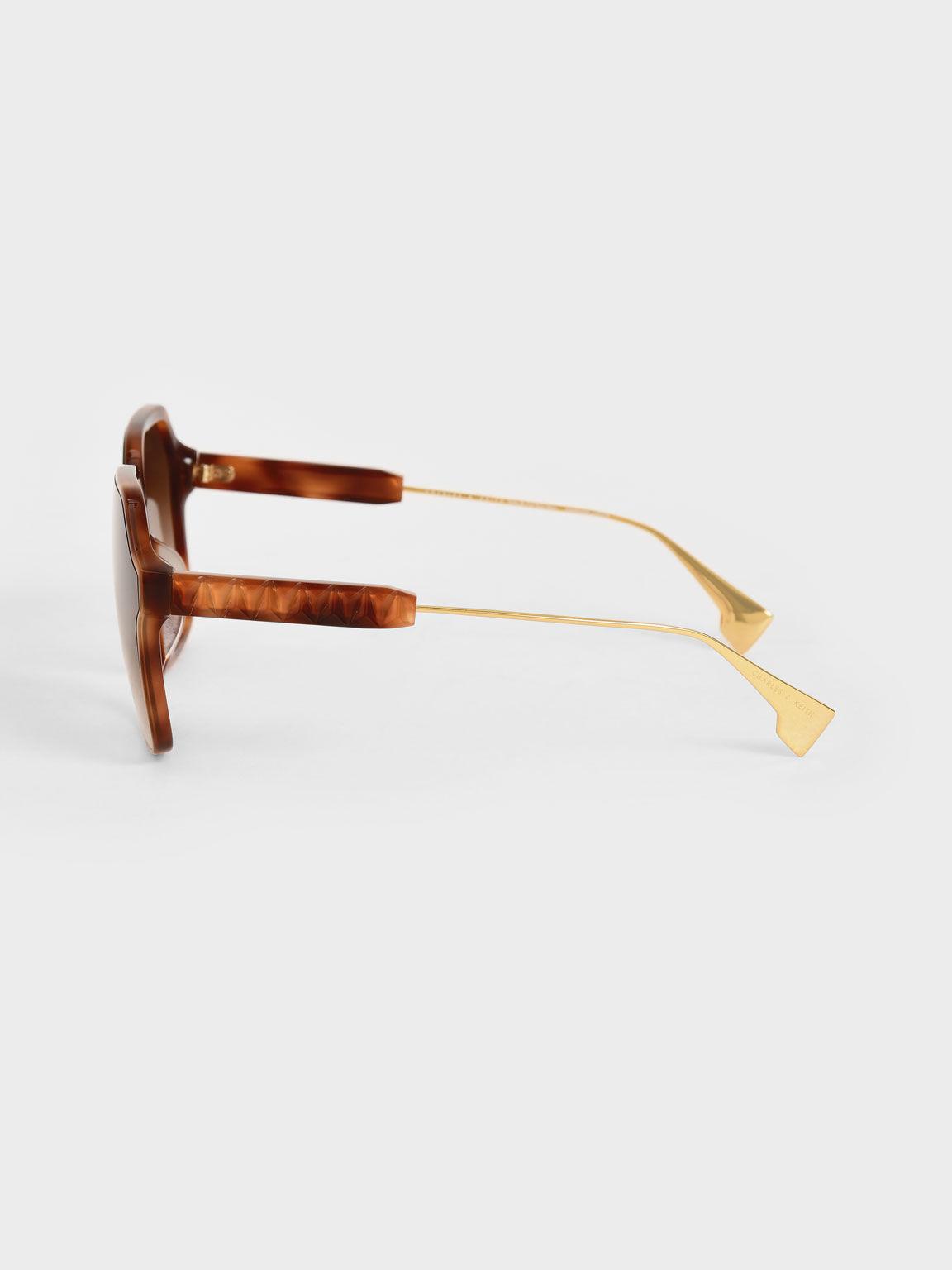 蝴蝶膠框墨鏡, 玳瑁棕, hi-res