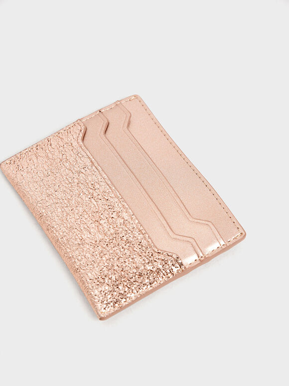 Glitter Card Holder, Rose Gold, hi-res