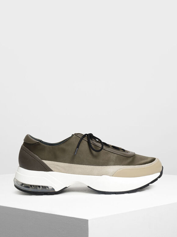 Chunky Sneakers, Military Green, hi-res