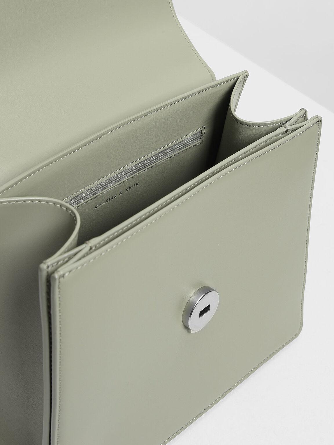 Classic Top Handle Bag, Sage Green, hi-res